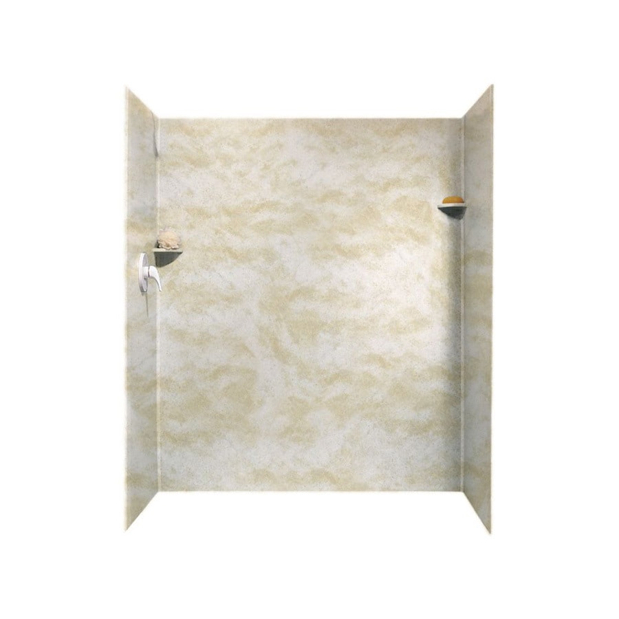 Shop Swanstone Cloud White Solid Surface Shower Wall
