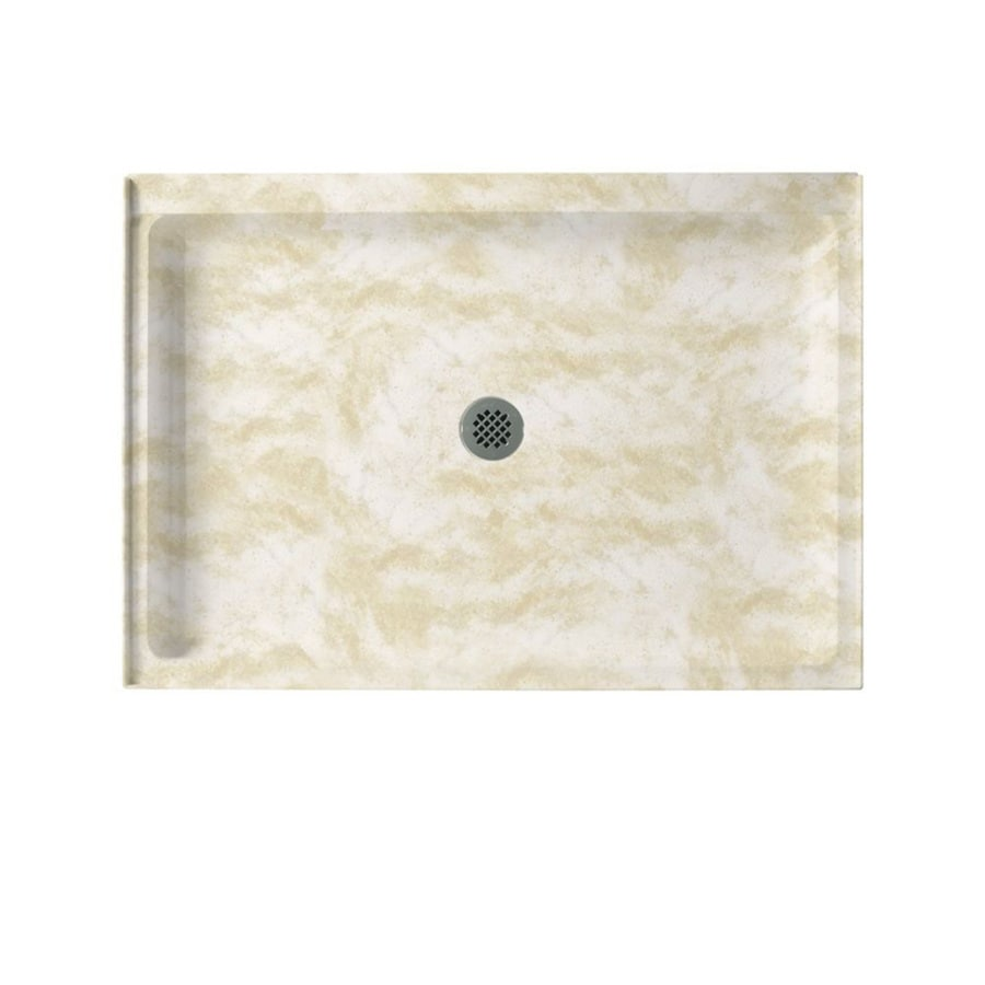 Swanstone Cloud White Solid Surface Shower Base (Common: 34-in W x 42-in L; Actual: 34-in W x 42-in L)