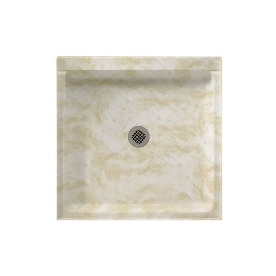 Swanstone Cloud White Solid Surface Shower Base (Common: 42-in W x 42-in L; Actual: 42-in W x 42-in L)