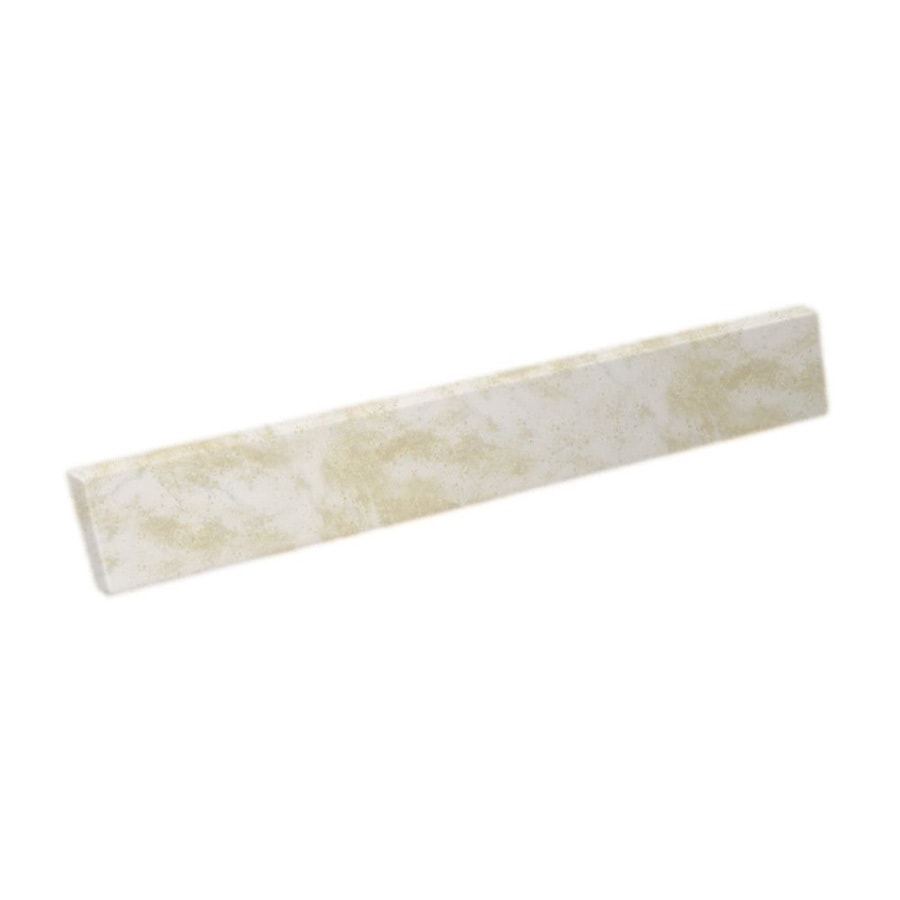 Swanstone 321-in L Cloud White Bathroom Side Splash