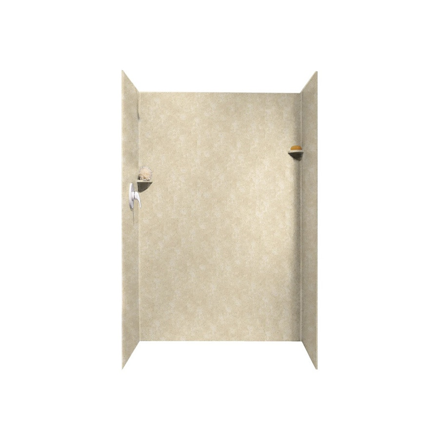 Swanstone Cloud Bone Shower Wall Surround Side And Back Wall Kit (Common: 32-in x 48-in; Actual: 72-in x 32-in x 48-in)