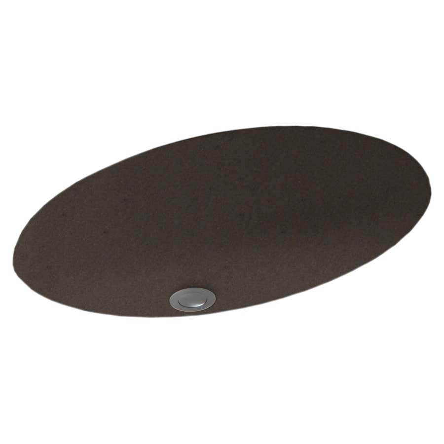 Swanstone Canyon Solid Surface Undermount Oval Bathroom Sink with Overflow