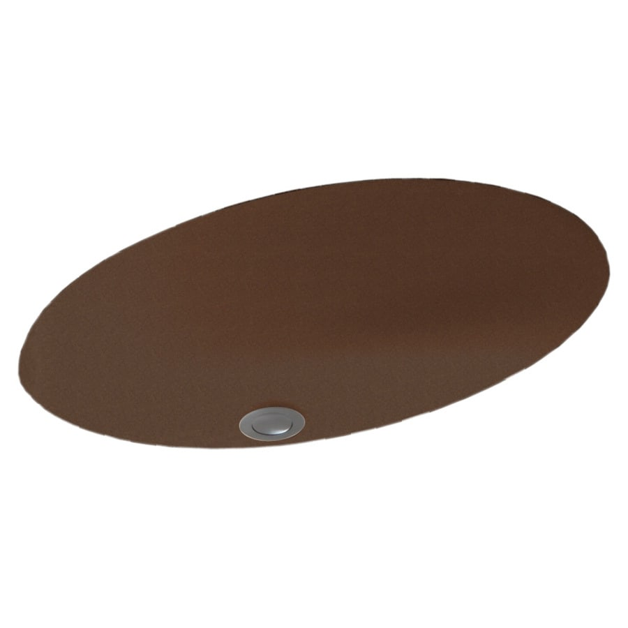 Swanstone Acorn Solid Surface Undermount Oval Bathroom Sink with Overflow
