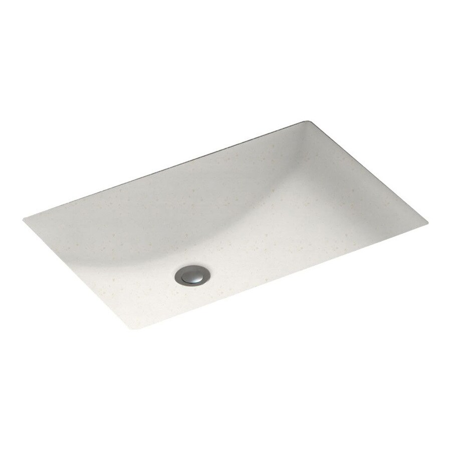 Swanstone Baby's Breath Solid Surface Undermount Rectangular Bathroom Sink with Overflow
