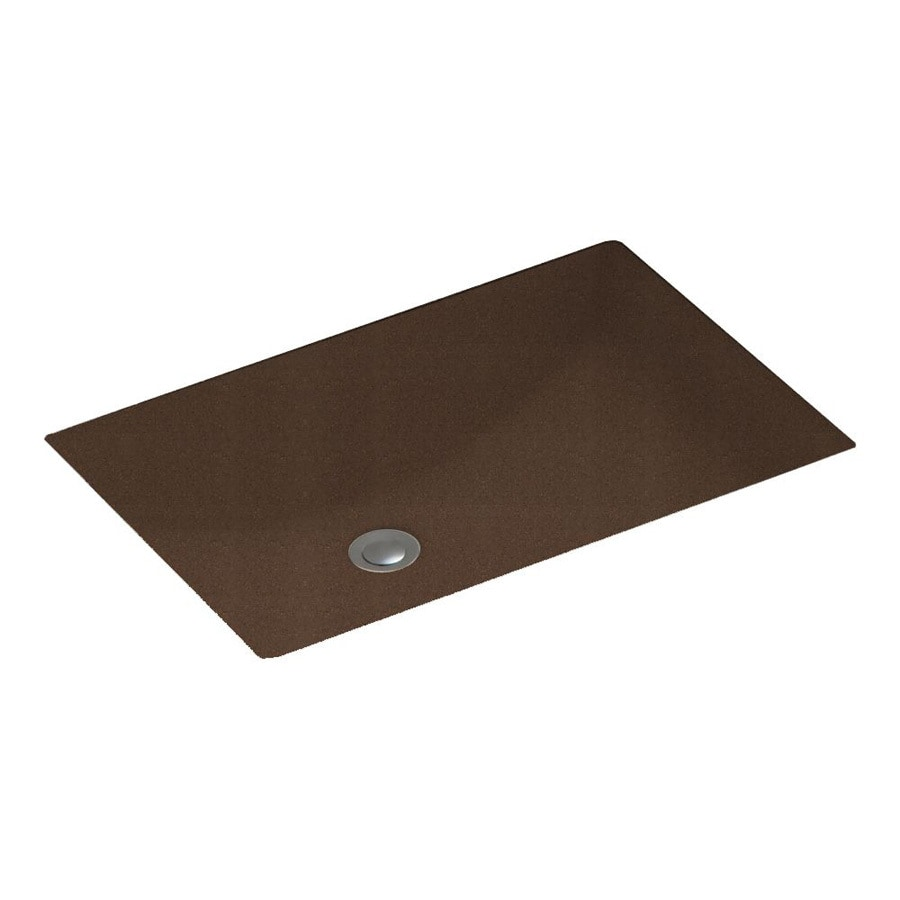 Solid Surface Bathroom Sink: Shop Swanstone Acorn Solid Surface Undermount Rectangular