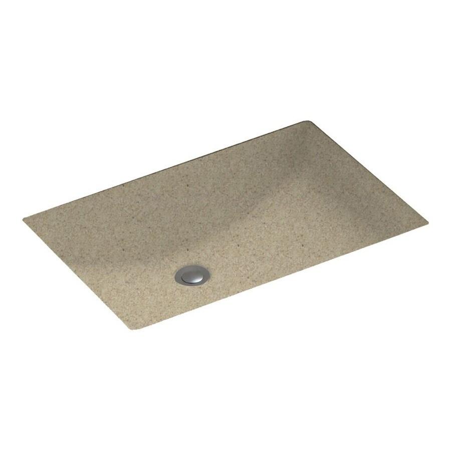Swanstone Prairie Solid Surface Undermount Rectangular Bathroom Sink with Overflow