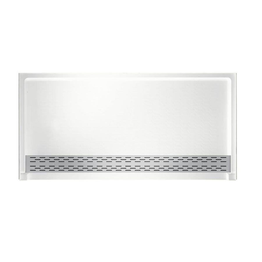 Swanstone White Solid Surface Shower Base (Common: 64-in W x 34-in L; Actual: 64.25-in W x 34.125-in L)