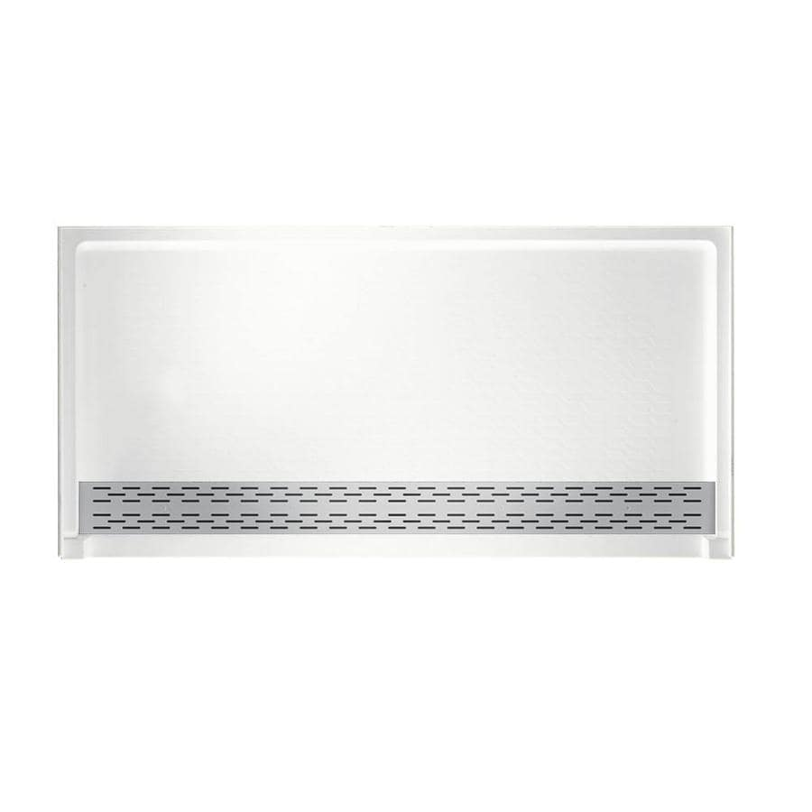 Swanstone White Solid Surface Shower Base (Common: 64-in W x 34-in L; Actual: 64.2500-in W x 34.1250-in L)