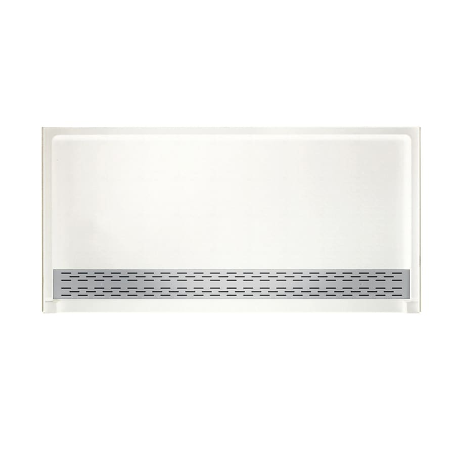 Swanstone Tahiti White Solid Surface Shower Base (Common: 64-in W x 34-in L; Actual: 64.25-in W x 34.125-in L)
