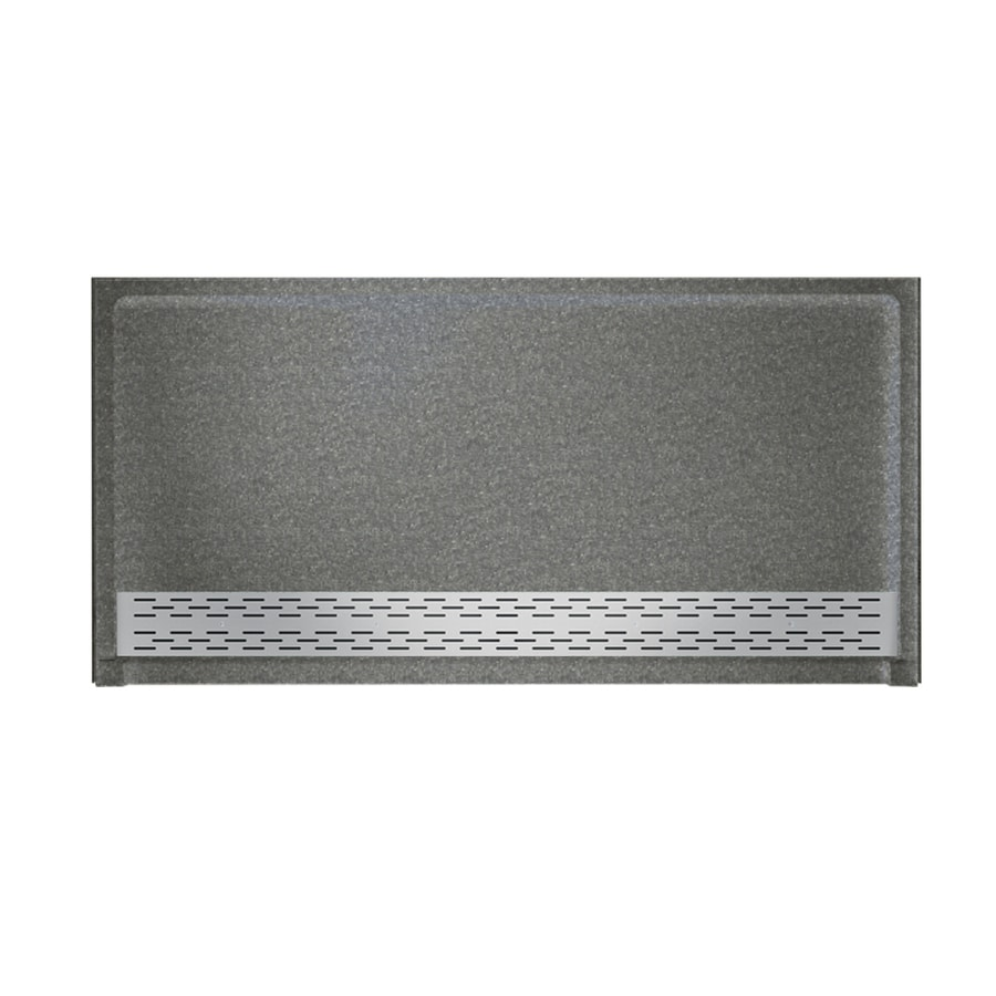 Swanstone Night Sky Solid Surface Shower Base (Common: 64-in W x 34-in L; Actual: 64.25-in W x 34.125-in L) with Front Drain