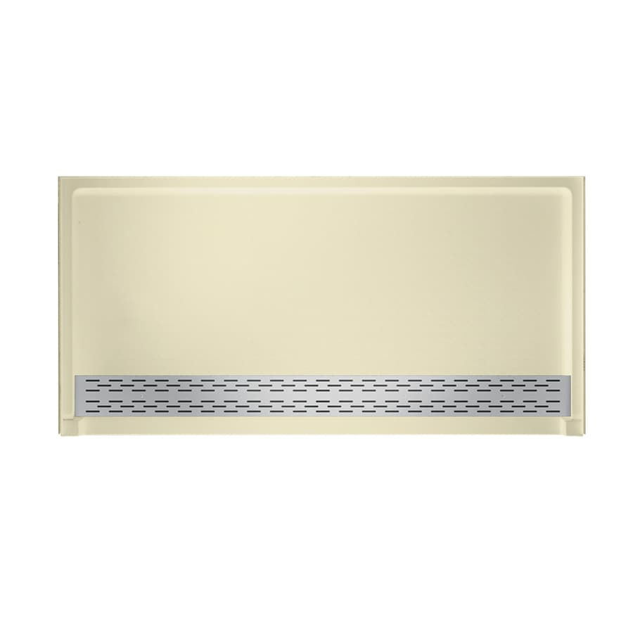 Swanstone Bone Solid Surface Shower Base (Common: 64-in W x 34-in L; Actual: 64.25-in W x 34.125-in L)