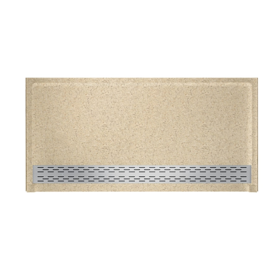 Swanstone Bermuda Sand Solid Surface Shower Base (Common: 64-in W x 34-in L; Actual: 64.25-in W x 34.125-in L)