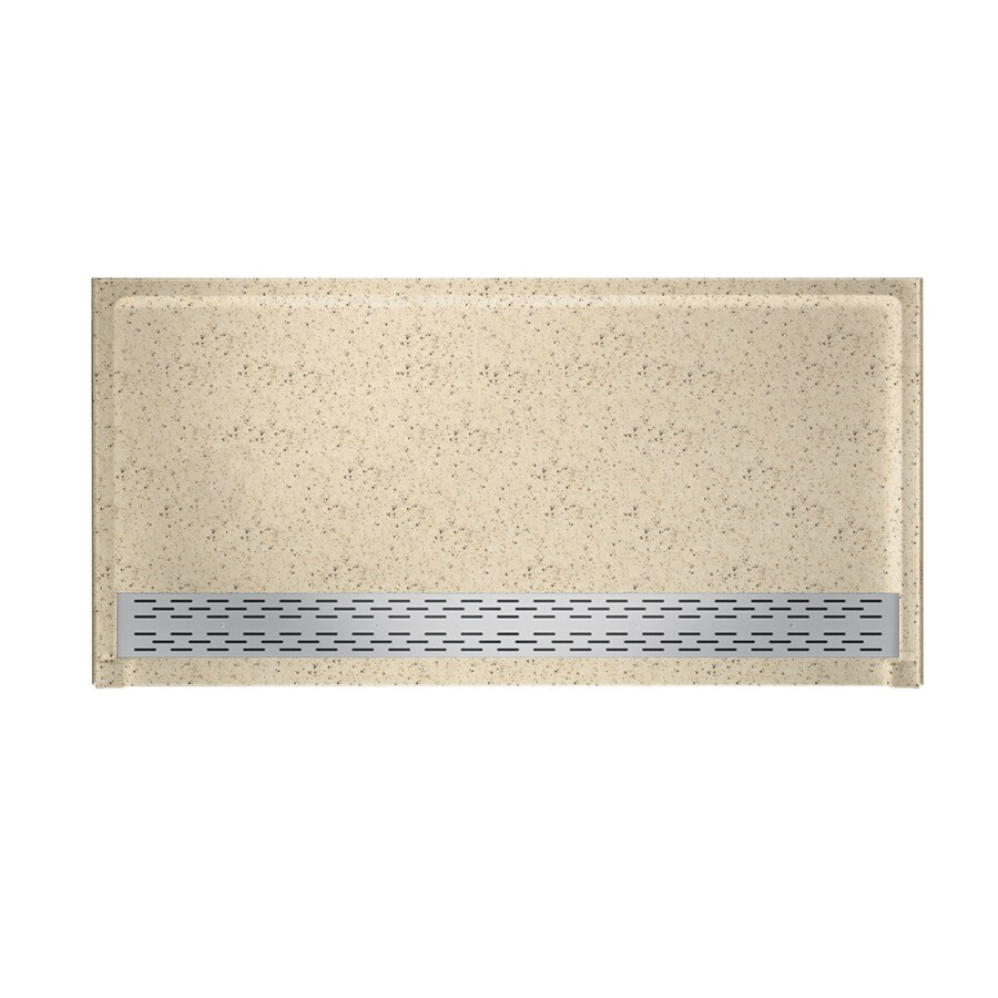 Swanstone Tahiti Desert Solid Surface Shower Base (Common: 64-in W x 34-in L; Actual: 64.25-in W x 34.125-in L)