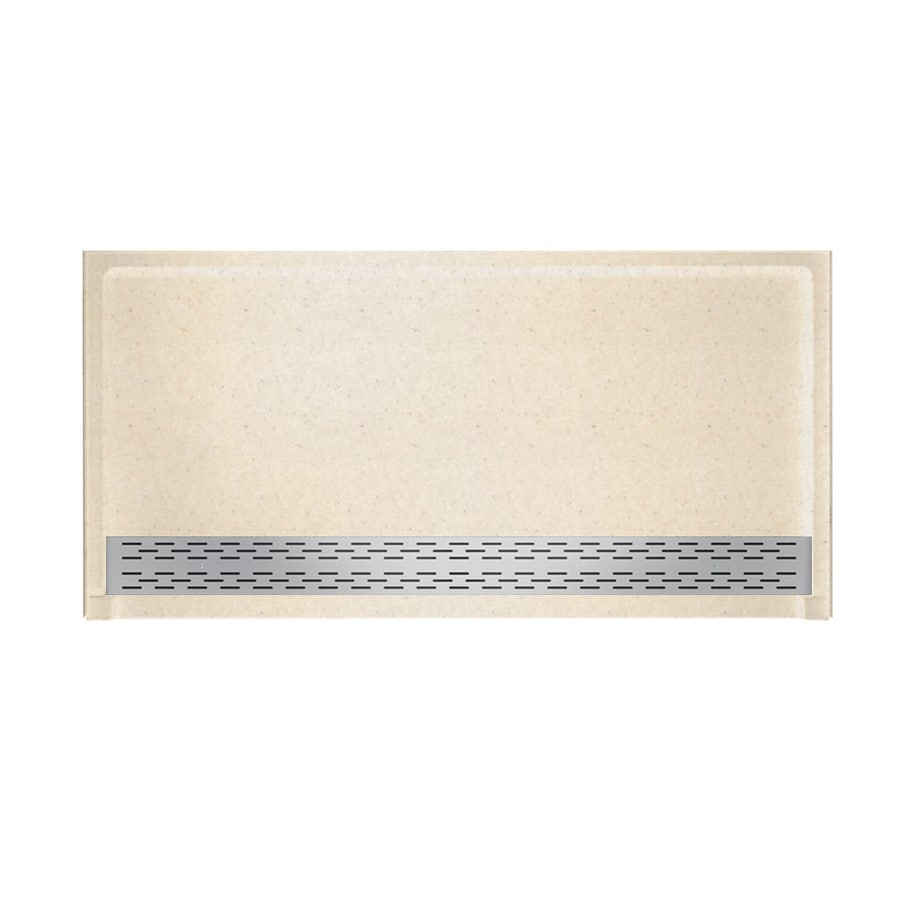 Swanstone Tahiti Sand Solid Surface Shower Base (Common: 64-in W x 34-in L; Actual: 64.2500-in W x 34.1250-in L)