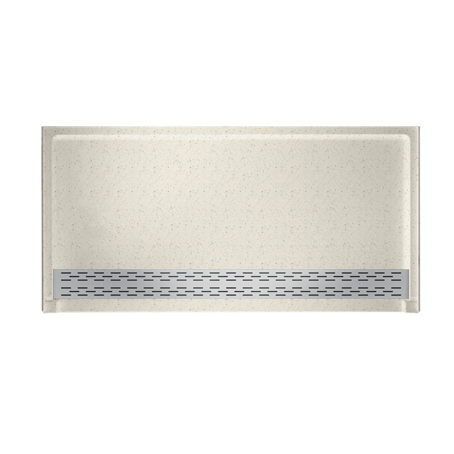 Swanstone Tahiti Matrix Solid Surface Shower Base (Common: 64-in W x 34-in L; Actual: 64.25-in W x 34.125-in L)