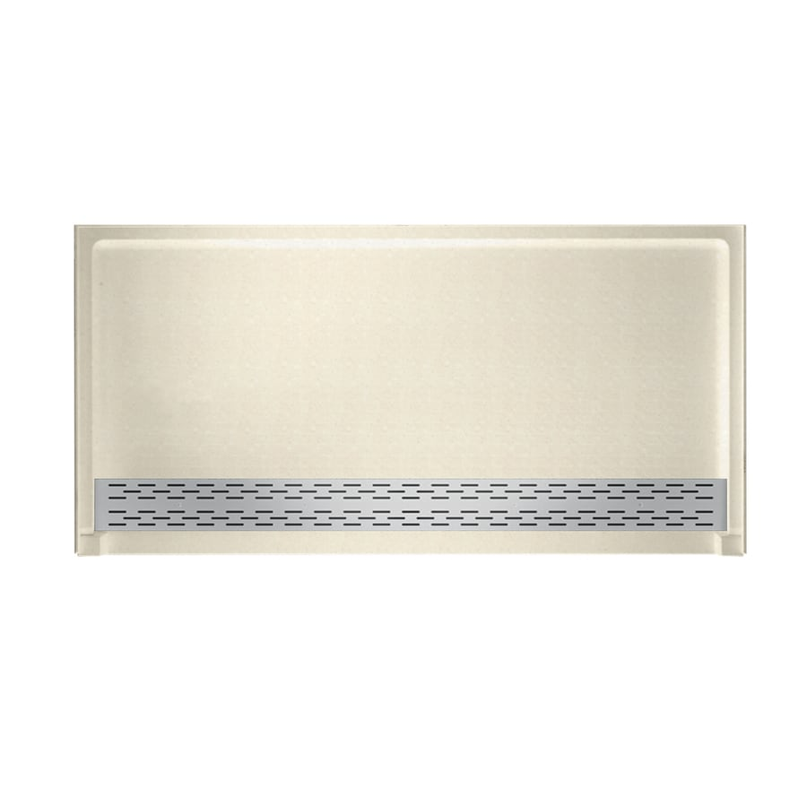 Swanstone Pebble Solid Surface Shower Base (Common: 64-in W x 34-in L; Actual: 64.25-in W x 34.125-in L)