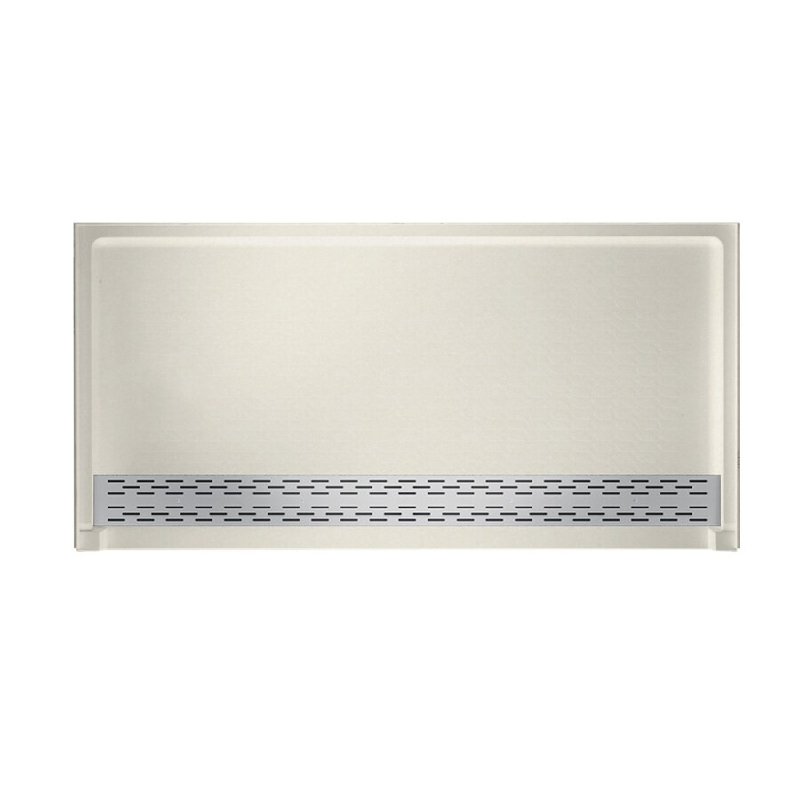 Swanstone Glacier Solid Surface Shower Base (Common: 64-in W x 34-in L; Actual: 64.25-in W x 34.125-in L)