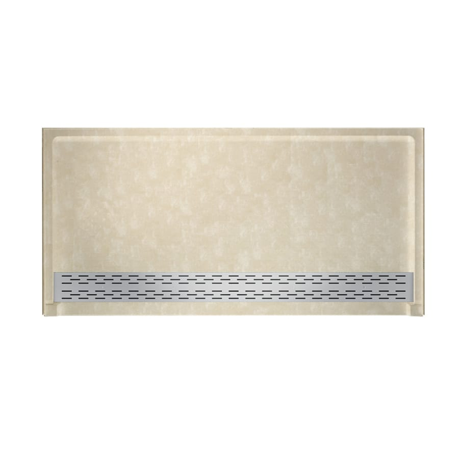 Swanstone Cloud Bone Solid Surface Shower Base (Common: 64-in W x 34-in L; Actual: 64.25-in W x 34.125-in L)