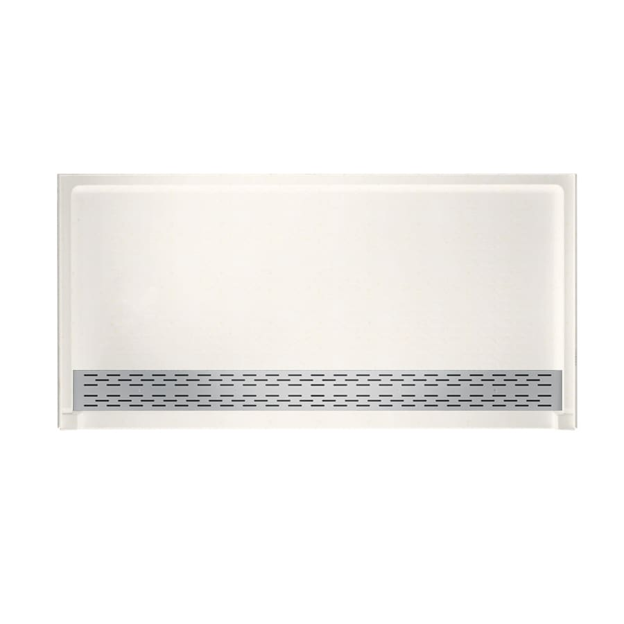 Swanstone Baby's Breath Solid Surface Shower Base (Common: 64-in W x 34-in L; Actual: 64.25-in W x 34.125-in L)