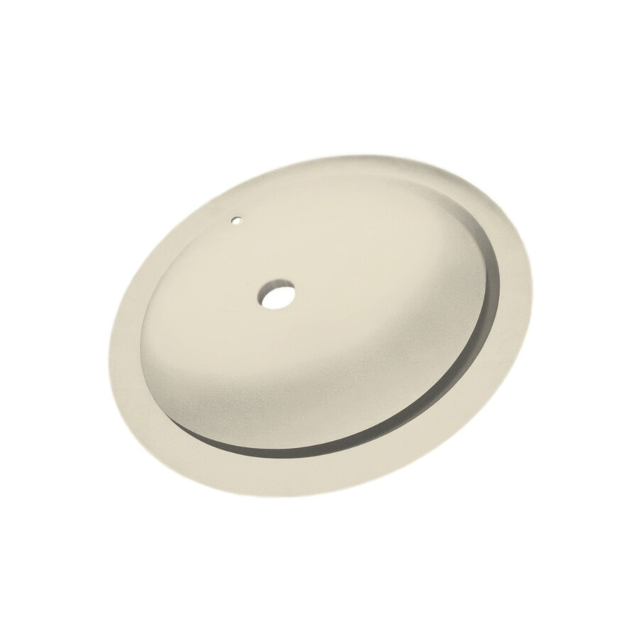 Swanstone Bone Solid Surface Undermount Oval Bathroom Sink with Overflow
