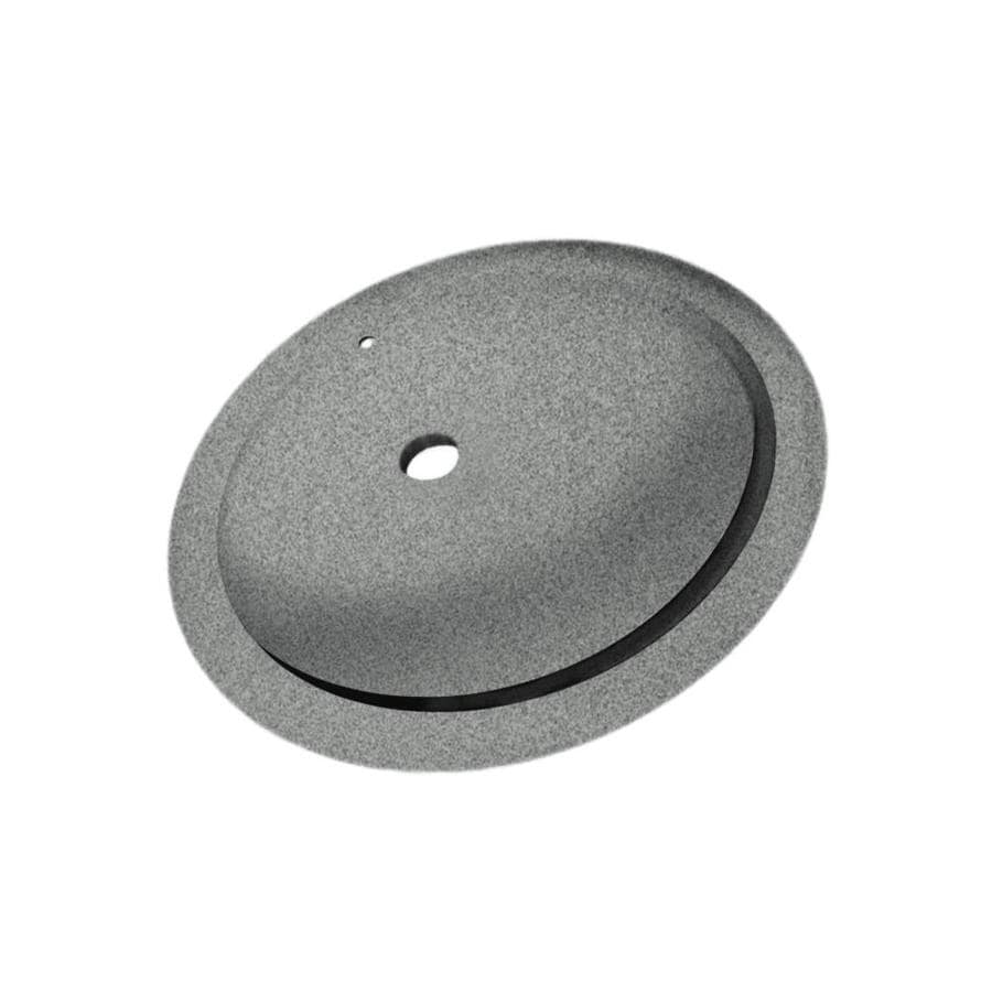 Swan Gray Granite Solid Surface Undermount Oval Bathroom