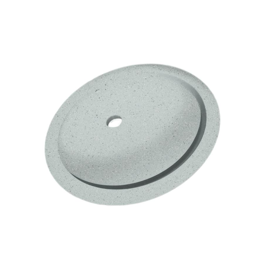 SWAN Tahiti Gray Solid Surface Undermount Oval Bathroom Sink