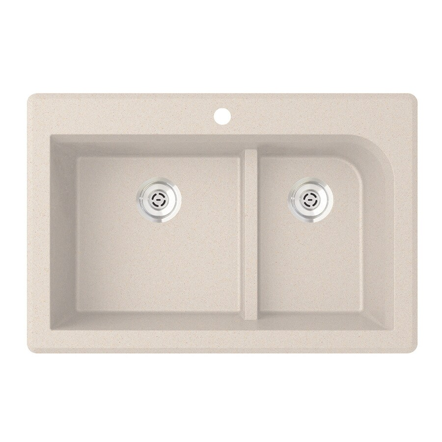 SWAN Double Basin Drop-In or Undermount Granite Kitchen Sink