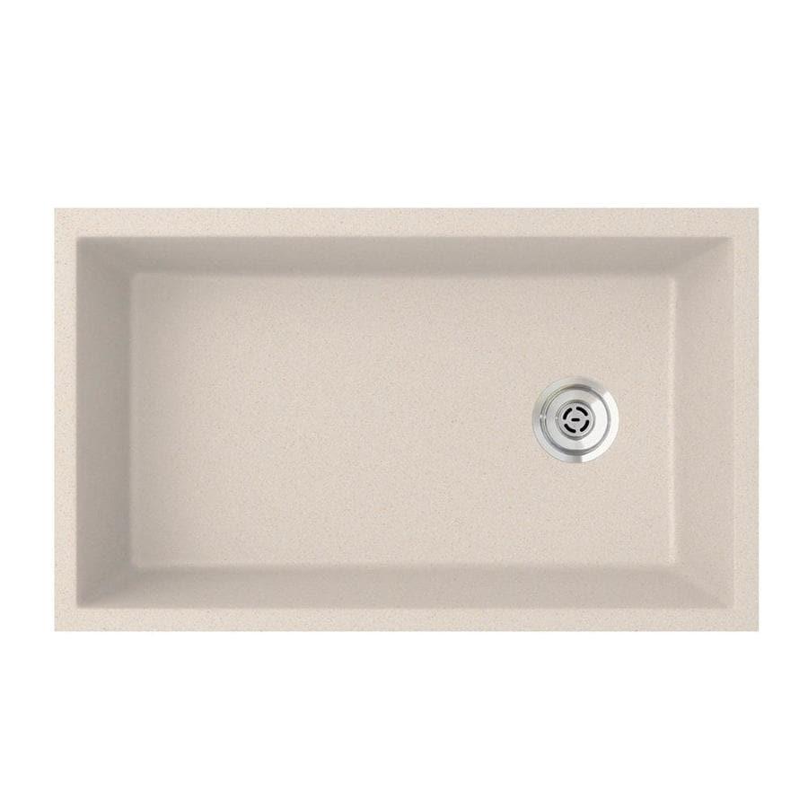 SWAN 19.25-in x 31.875-in Granito Single-Basin Granite Undermount Residential Kitchen Sink
