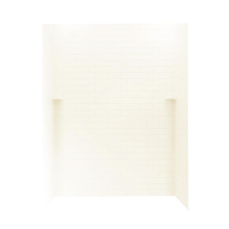 Swanstone White Shower Wall Surround Side And Back Wall Kit (Common: 62-in x 36-in; Actual: 72.5-in x 62-in x 36-in)