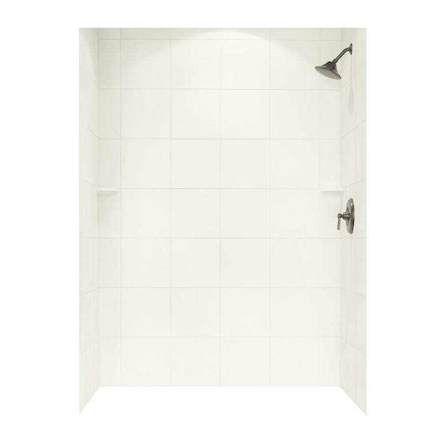 Swanstone Bisque Shower Wall Surround Side and Back Walls (Common: 62-in x 36-in; Actual: 72.5-in x 62-in x 36-in)
