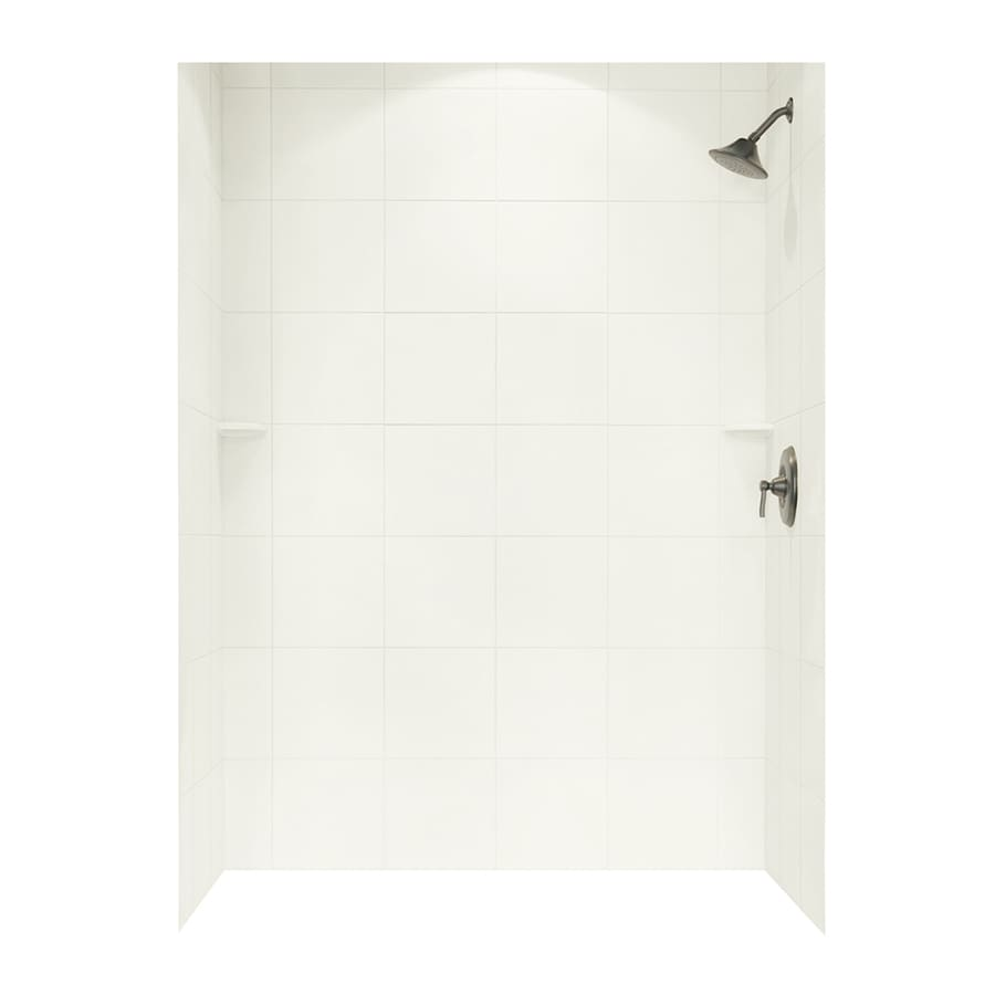 Swanstone Bisque Shower Wall Surround Side and Back Wall Kit (Common: 62-in x 36-in; Actual: 96-in x 62-in x 36-in)