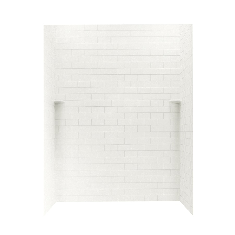 Swanstone Tahiti White Shower Wall Surround Side And Back Wall Kit (Common: 62-in x 36-in; Actual: 72.5-in x 62-in x 36-in)