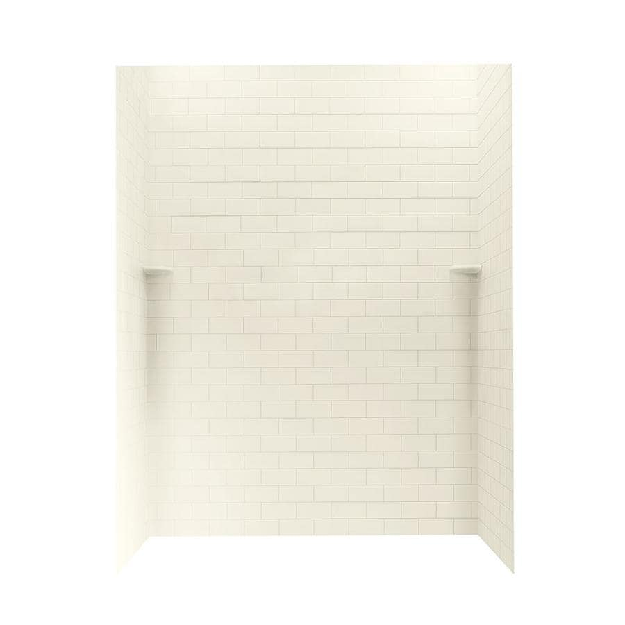 Swanstone Bone Shower Wall Surround Side and Back Walls (Common: 62-in x 36-in; Actual: 72.5-in x 62-in x 36-in)