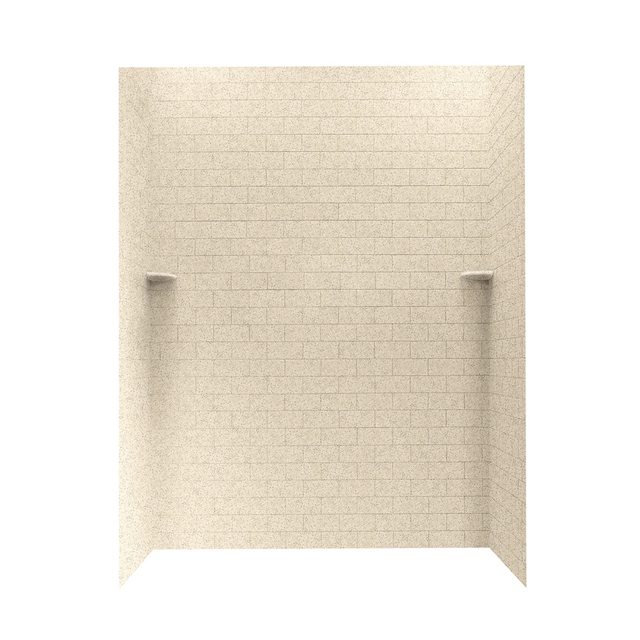 Swanstone Bermuda Sand Shower Wall Surround Side and Back Walls (Common: 62-in x 36-in; Actual: 72.5-in x 62-in x 36-in)