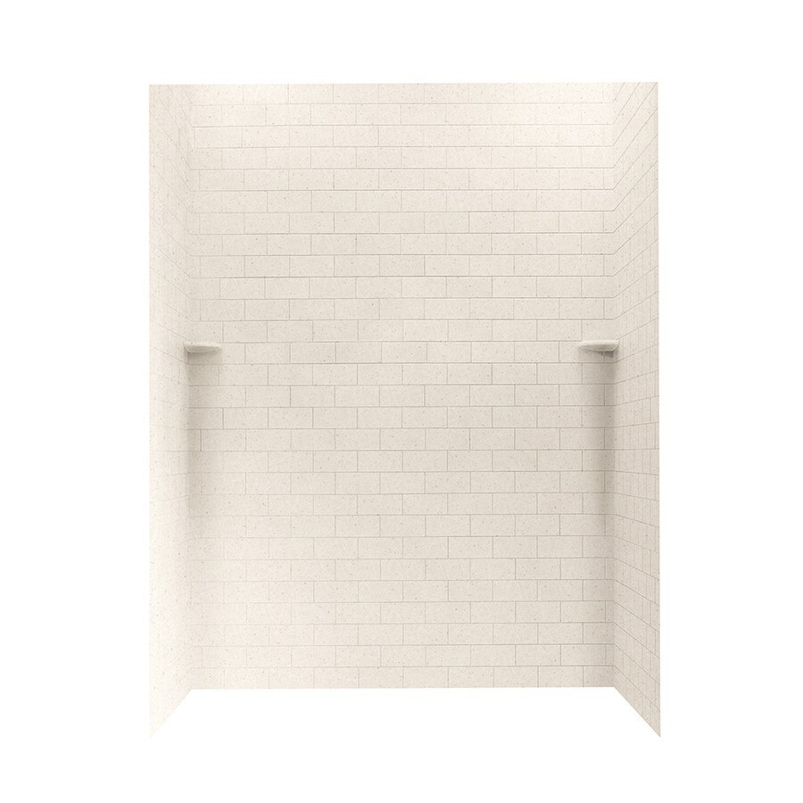 Swanstone Tahiti Sand Shower Wall Surround Side and Back Walls (Common: 62-in x 36-in; Actual: 72.5-in x 62-in x 36-in)