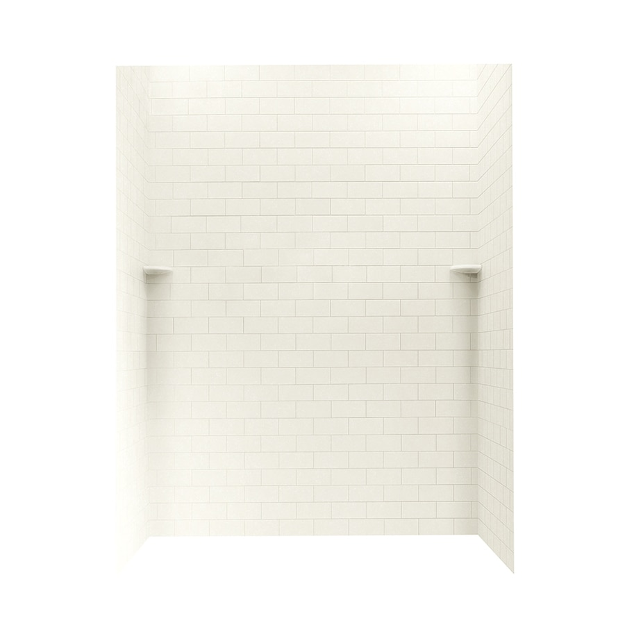 Swanstone Tahiti Ivory Shower Wall Surround Side and Back Walls (Common: 62-in x 36-in; Actual: 72.5-in x 62-in x 36-in)