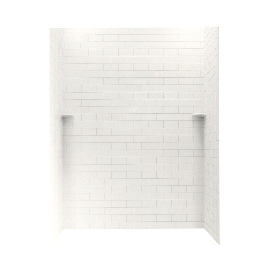 Swanstone Glacier Shower Wall Surround Side And Back Wall Kit (Common: 62-in x 36-in; Actual: 72.5-in x 62-in x 36-in)