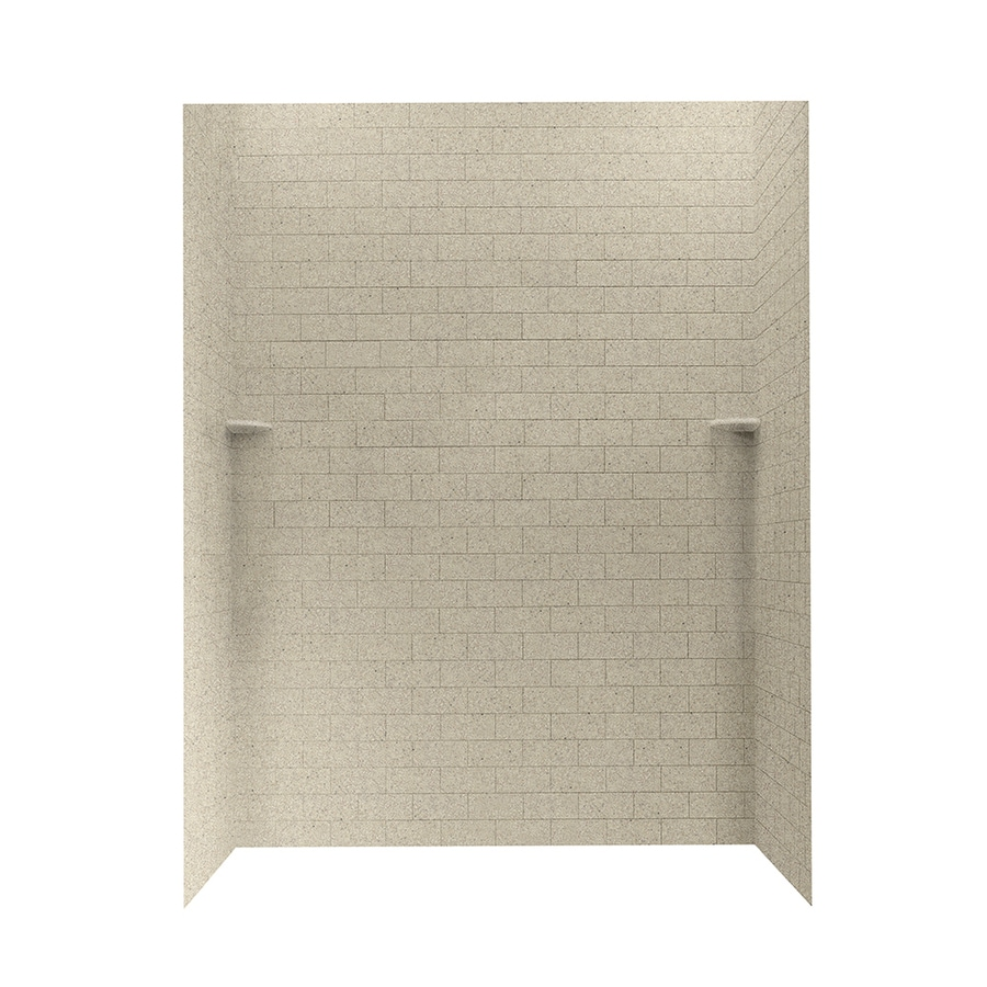 Swanstone Prairie Shower Wall Surround Side And Back Wall Kit (Common: 62-in x 36-in; Actual: 72.5-in x 62-in x 36-in)