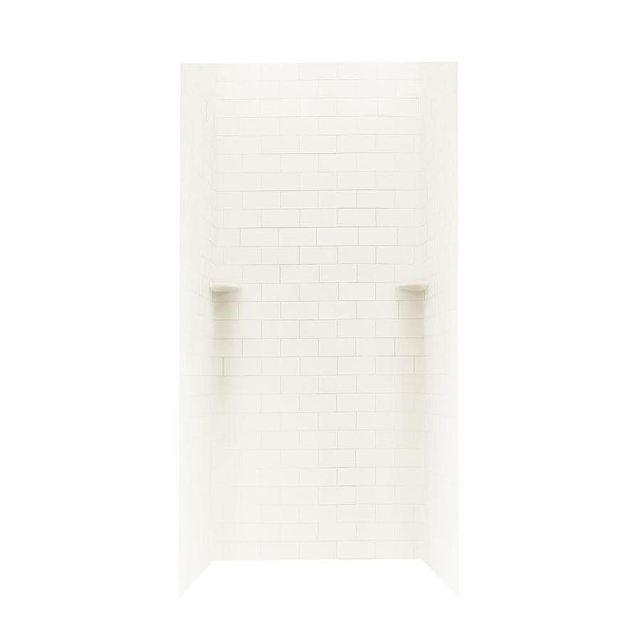 Swanstone White Shower Wall Surround Side and Back Wall Kit (Common: 36-in x 36-in; Actual: 72.5-in x 36-in x 36-in)