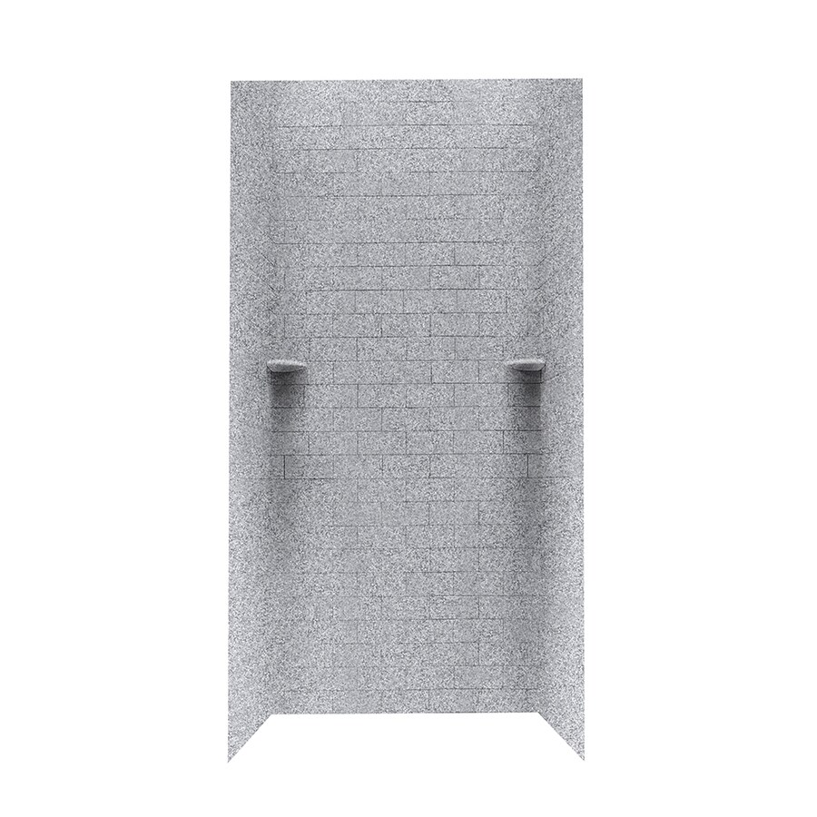 Swanstone Gray Granite Shower Wall Surround Side and Back Wall Kit (Common: 36-in x 36-in; Actual: 72.5-in x 36-in x 36-in)