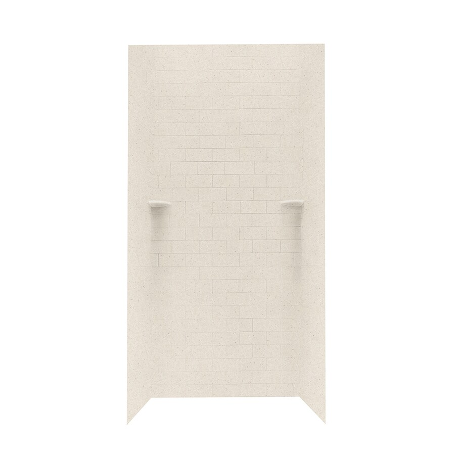 Swanstone Tahiti Sand Shower Wall Surround Side And Back Wall Kit (Common: 36-in x 36-in; Actual: 72.5-in x 36-in x 36-in)