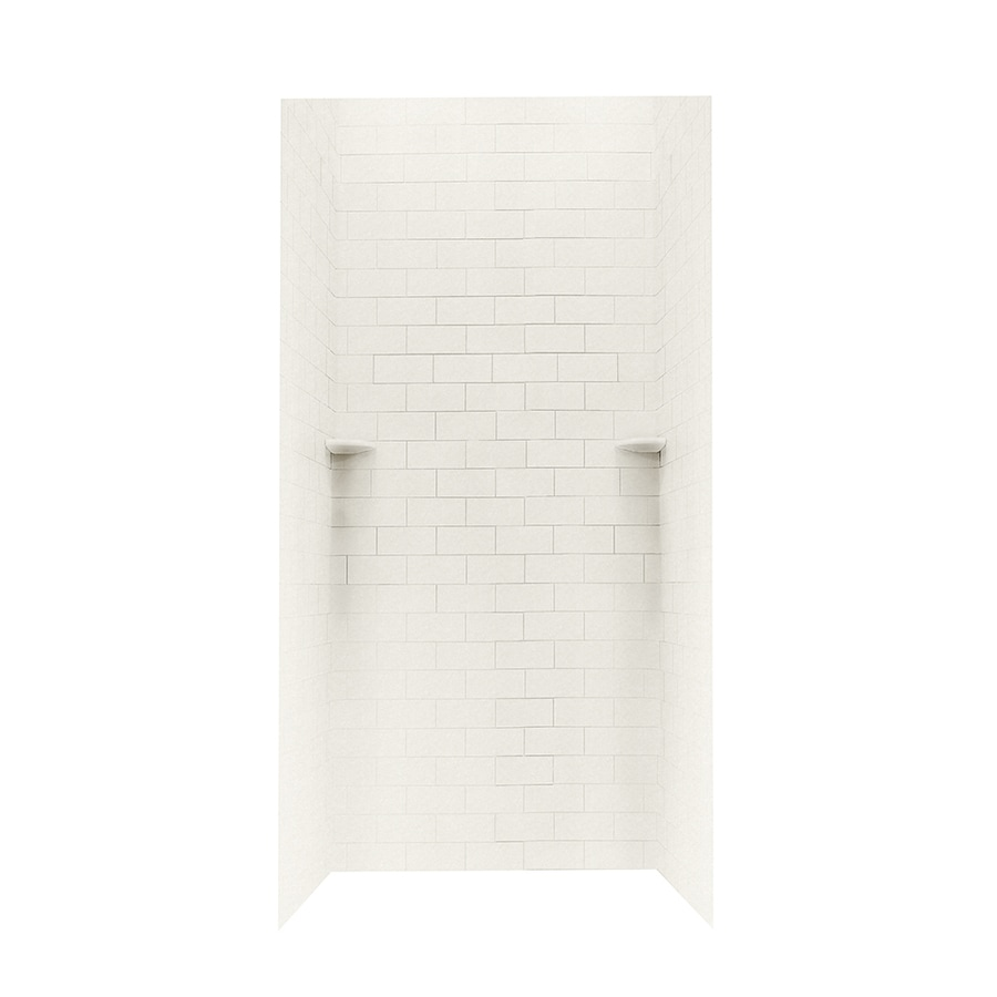 Swanstone Glacier Shower Wall Surround Side and Back Walls (Common: 36-in x 36-in; Actual: 72.5-in x 36-in x 36-in)