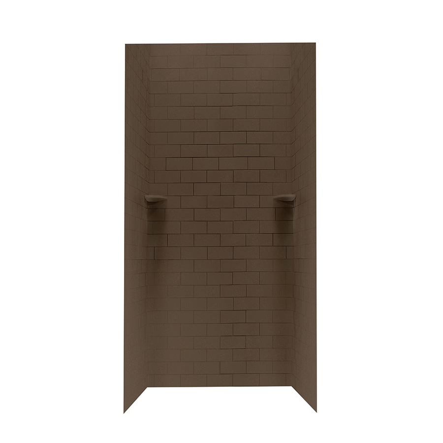 Swanstone Acorn Shower Wall Surround Side and Back Walls (Common: 36-in x 36-in; Actual: 72.5-in x 36-in x 36-in)
