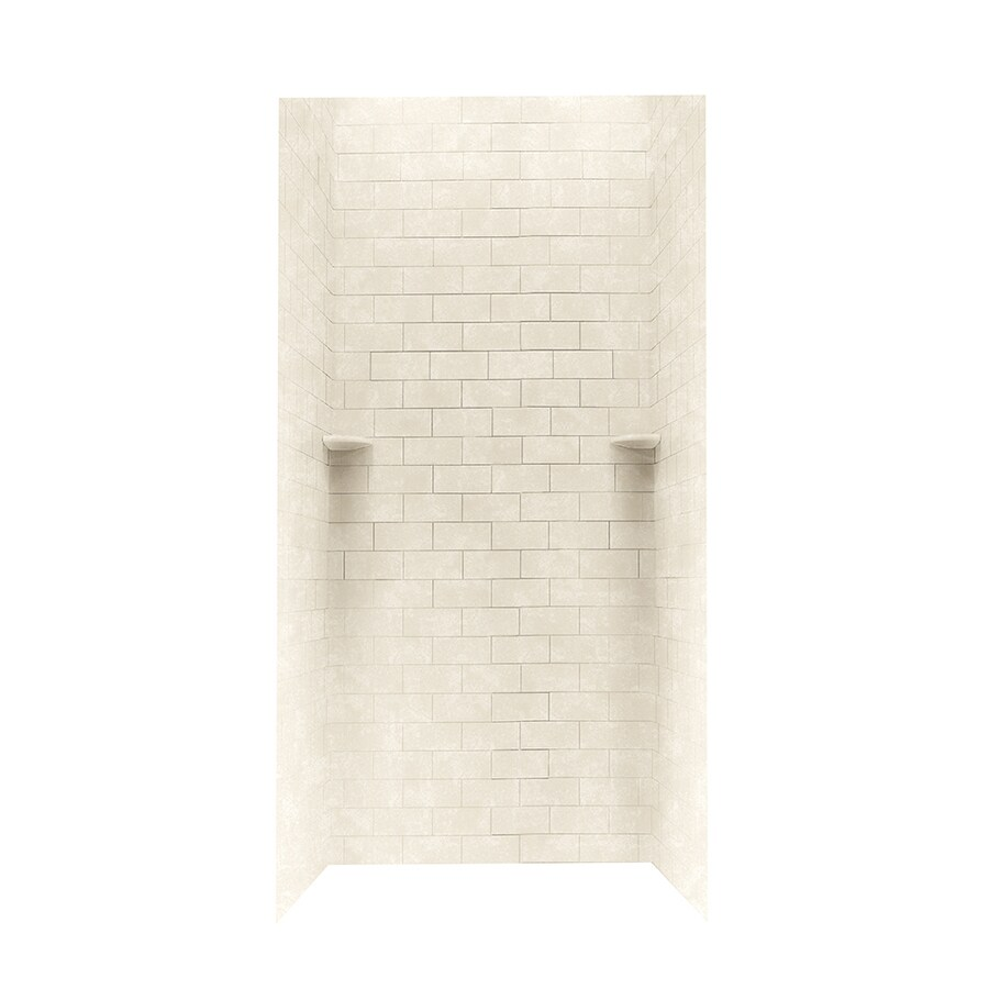 Swanstone Cloud Bone Shower Wall Surround Side and Back Walls (Common: 36-in x 36-in; Actual: 72.5-in x 36-in x 36-in)