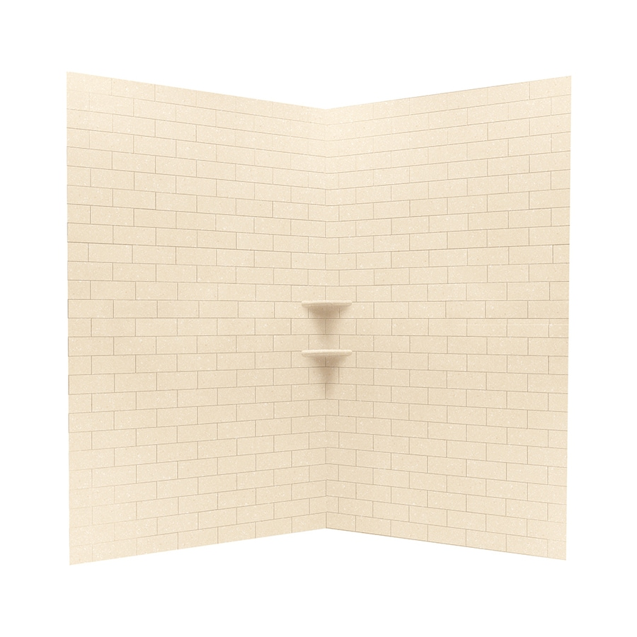 Swanstone Tahiti Terra Shower Wall Surround Corner Wall Kit (Common: 48-in x 48-in; Actual: 72.5-in x 48-in x 48-in)