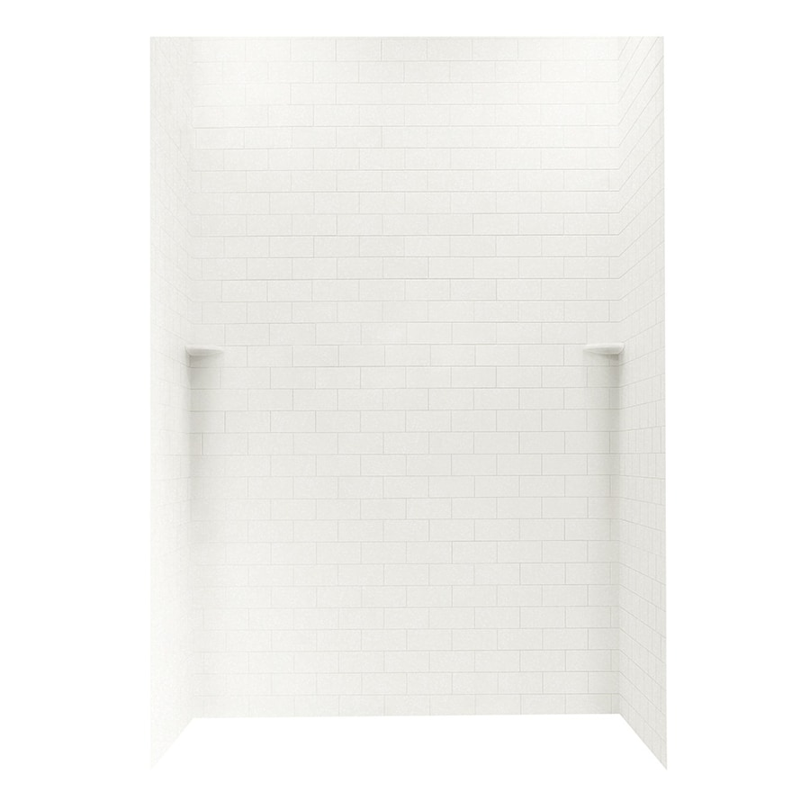 Swanstone Tahiti White Shower Wall Surround Side and Back Walls (Common: 62-in x 36-in; Actual: 96-in x 62-in x 36-in)