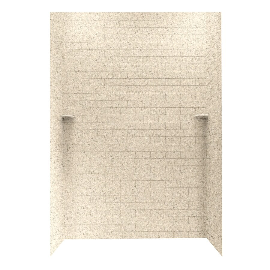 Swanstone Bermuda Sand Shower Wall Surround Side and Back Walls (Common: 62-in x 36-in; Actual: 96-in x 62-in x 36-in)