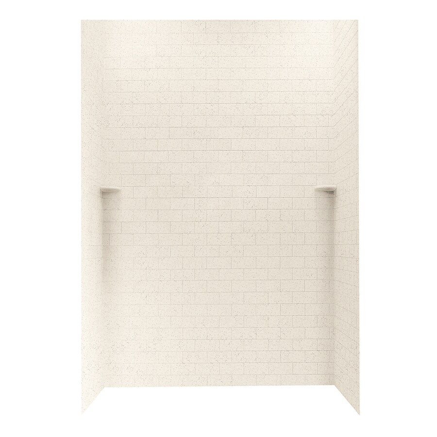 Swanstone Tahiti Desert Shower Wall Surround Side and Back Walls (Common: 62-in x 36-in; Actual: 96-in x 62-in x 36-in)