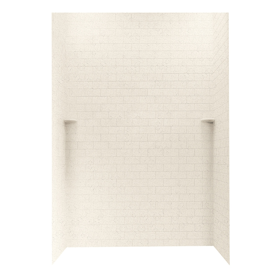 Swanstone Tahiti Desert Shower Wall Surround Side and Back Wall Kit (Common: 62-in x 36-in; Actual: 96-in x 62-in x 36-in)