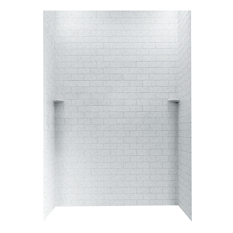 Swanstone Tahiti Gray Shower Wall Surround Side and Back Walls (Common: 62-in x 36-in; Actual: 96-in x 62-in x 36-in)